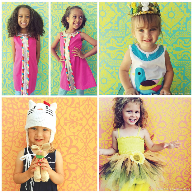 Cute Photography Backdrops for Kids via Zoology Kids | Stencils by Royal Design Studio