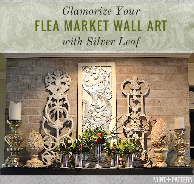 Glamorize your Flea Market Wall Art with Silver Leaf | Royal Design Studio
