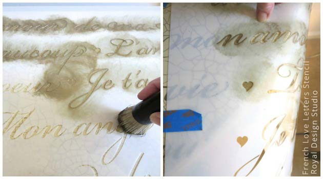 French Letters Stencil from Royal Design Studio
