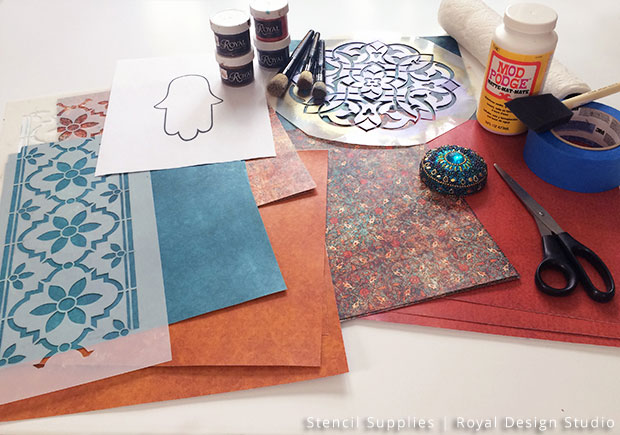 Stencil DIY: Hamsa Wall Art | Royal Design Studio Stencils