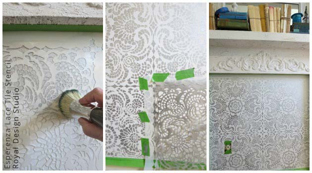 Lace Stencil on Wall
