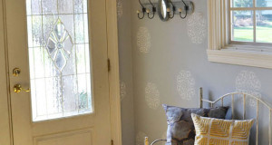 Before & After: Stencil an Inviting Entryway