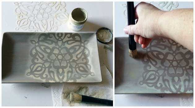 Key Holder Stencil DIY | Ankara Impression Medallion Stencil by Royal Design Studio