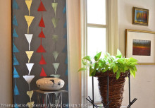Easy Stencil Wall Art to Drive Away Winter Blues