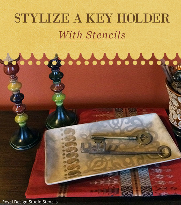 Stencil DIY: Key Holder | Stencils by Royal Design Studio
