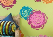 Stenciled Flower Power! Layer Rose Stencils for a Colorful Wall Treatment