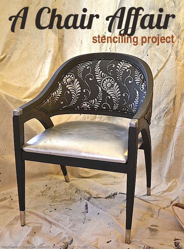 Chair Affair For Charity Stylish Stenciled Chair Project