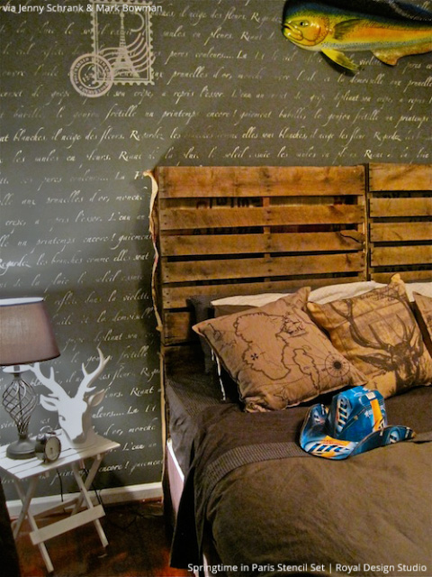 French Lettering Stencils and Wall Stencils from Royal Design Studio