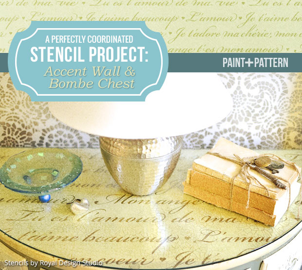 A Perfectly Coordinated Stencil Project | Stencils by Royal Design Studio
