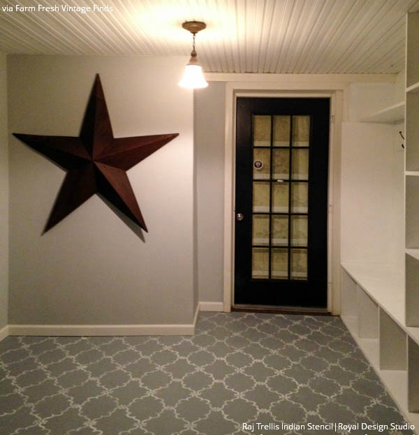 7 Stylish Stenciled Concrete Floor Finishes Within Your