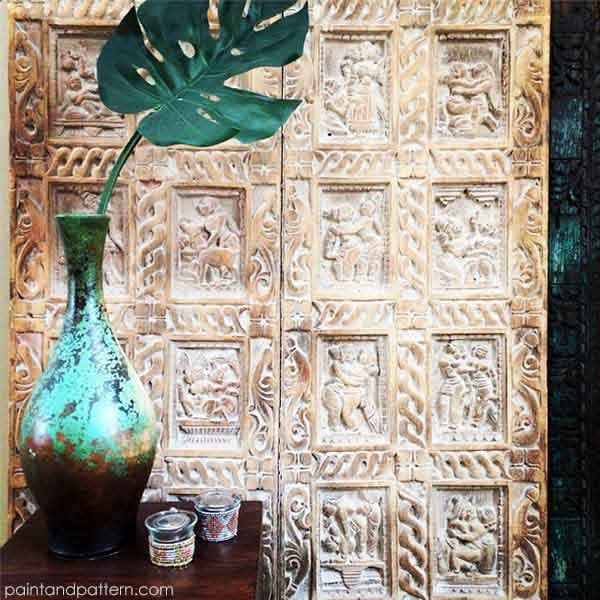 Carved Indian Door Inspiration on Paint and Pattern