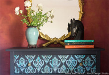 How to Stencil: Exotic Ikat Stencil IKEA Furniture Hack