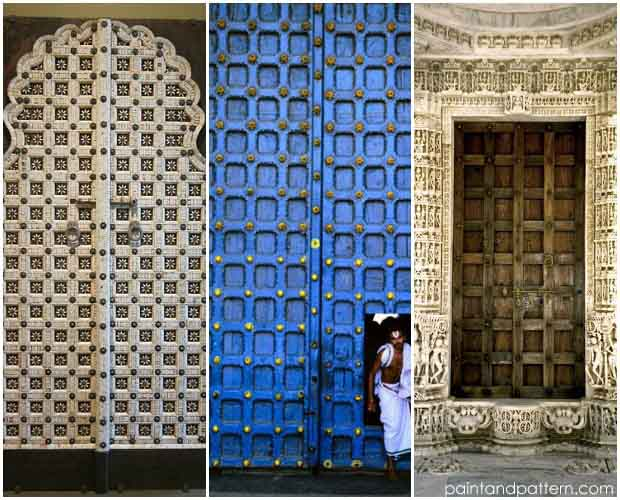 Carved Indian Doors Inspiration on Paint and Pattern