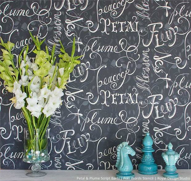 Lettering Stencils for DIY Paint Projects - Royal Design Studio