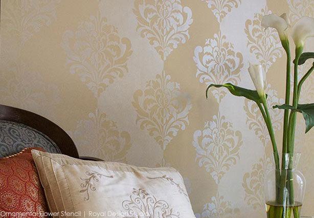 How To Stencil Tone On Tone Patterned Stripes