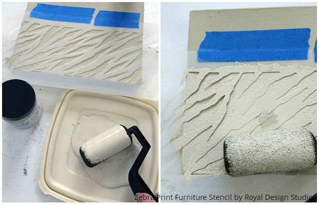 Painting Animal Print Stripes on Boxes - Stencil Tutorial