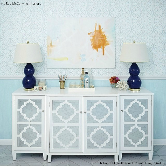 Update your home with trendy stenciled walls - 6 DIY wall makeovers