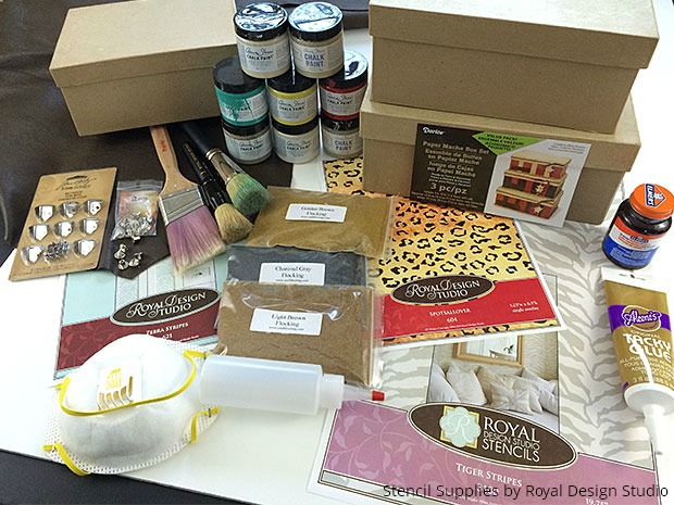 Stencil Safari Boxes with Animal Print for Fun DIY Project