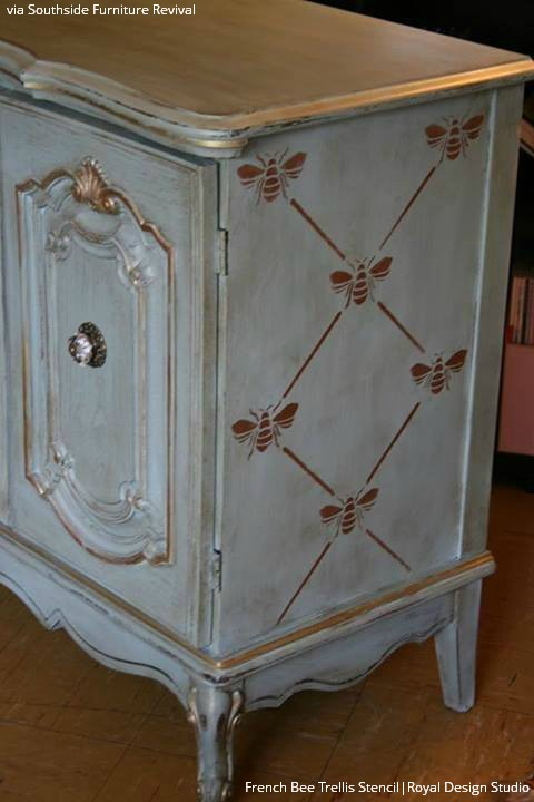 painted vintage furnitureChalking Up the Secret to Vintage Furniture Stencils  Paint  Pattern
