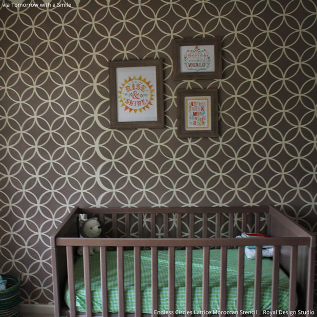 Chic Designer Wall Stencils for Baby Room Decor - Royal Design Studio