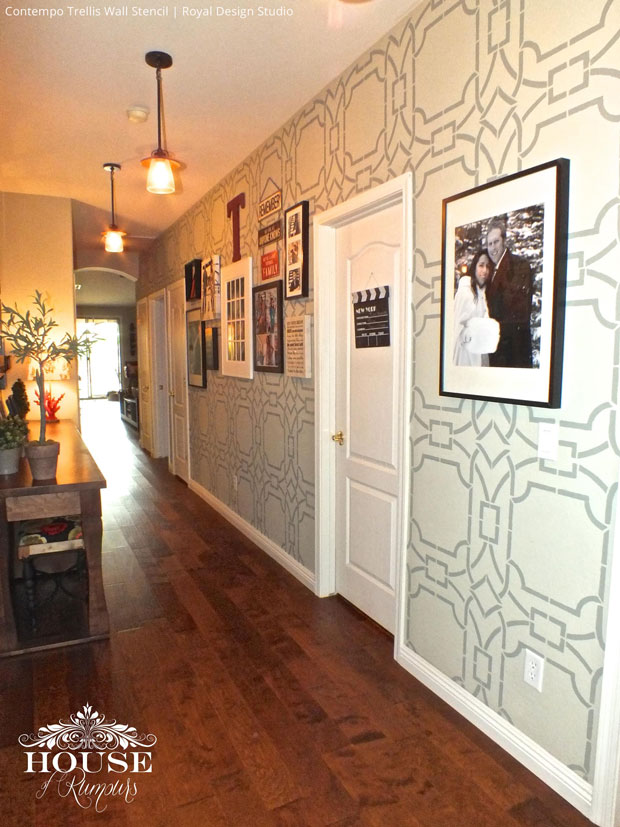 Decorate your home by stenciling your hallway with bold modern patterns - Royal Design Studio