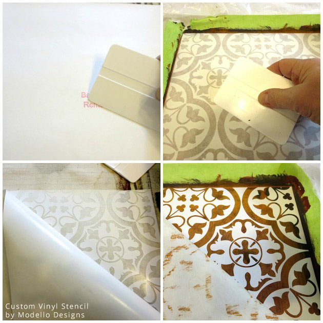 Applying Custom Vinyl Stencil by Modello® Designs