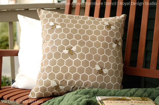 All the Buzz! 9 Bee Stencil Projects to Bee Inspired By! Royal Design Studio Craft Stencils for Spring Decorating