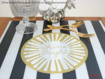 DIY Kitchen Table Placemats using Vinyl Wall Quotes and Decals from Wallternatives