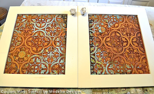 Rustic Patina Effect on Custom Stencil | Modello® Designs