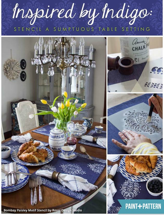 Stencil a Sumptuous Table Setting | Stencils by Royal Design Studio