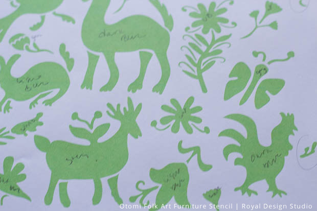 Otomi Stencil Pattern Print out | Royal Design Studio