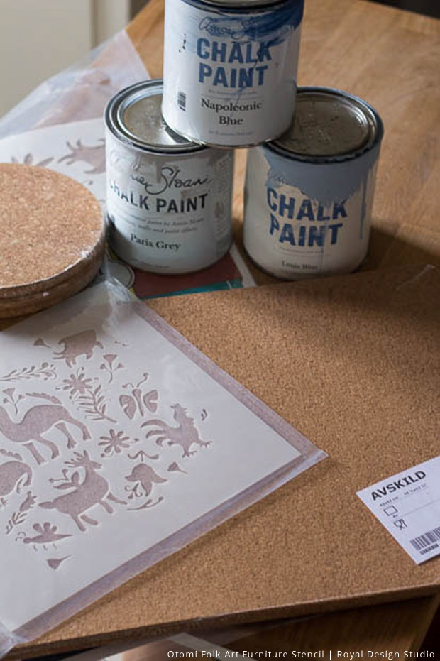 Supplies for Stencil Placemats | Royal Design Studio