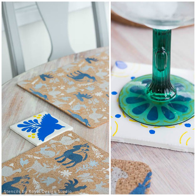 DIY Stenciled Tablescapes | Royal Design Studio Stencils