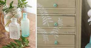 Feathery Fern Stencils for a Chalk Paint® Dresser