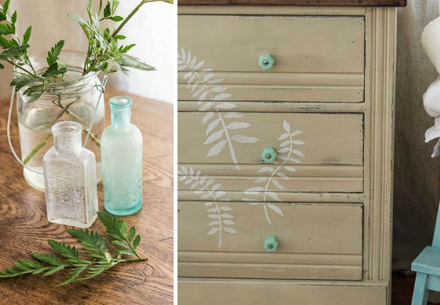 Feathery Fern Stencils For A Chalk Paint 174 Dresser Paint