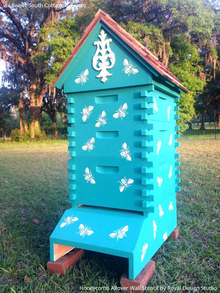 All The Buzz 9 Bee Stencil Projects To Inspired By