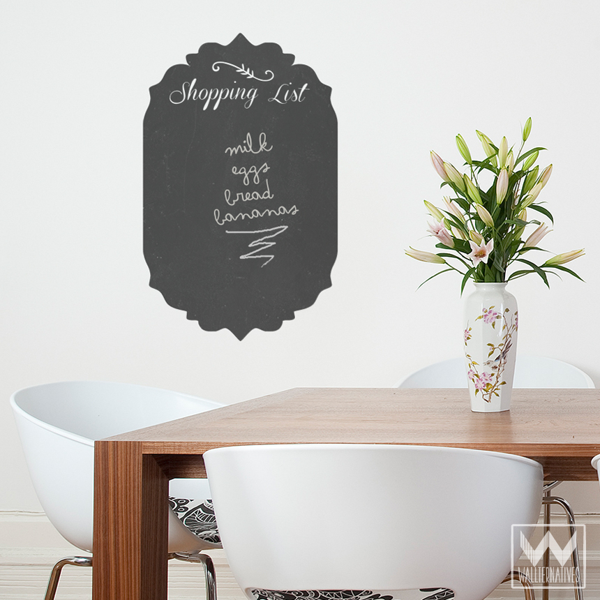 Shopping List Chalkboard Wall Decal - Ideas for Cute Kitchen Wall Art and Decor