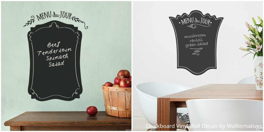 Cute Kitchen Wall Decor - Chalkboard Menu Wall Decals from Wallternatives