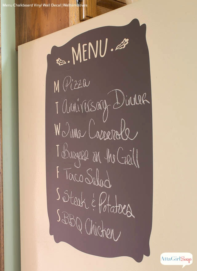 Menu Chalkboard Wall Decal for Kitchen Decorating and Organization - Wallternatives