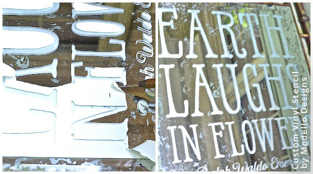Stencil Etched Garden Quotes DIY | Custom Vinyl Stencils by Modello® Designs
