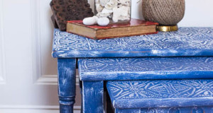 Nesting Tables Get Boho Chic Style with Stencils