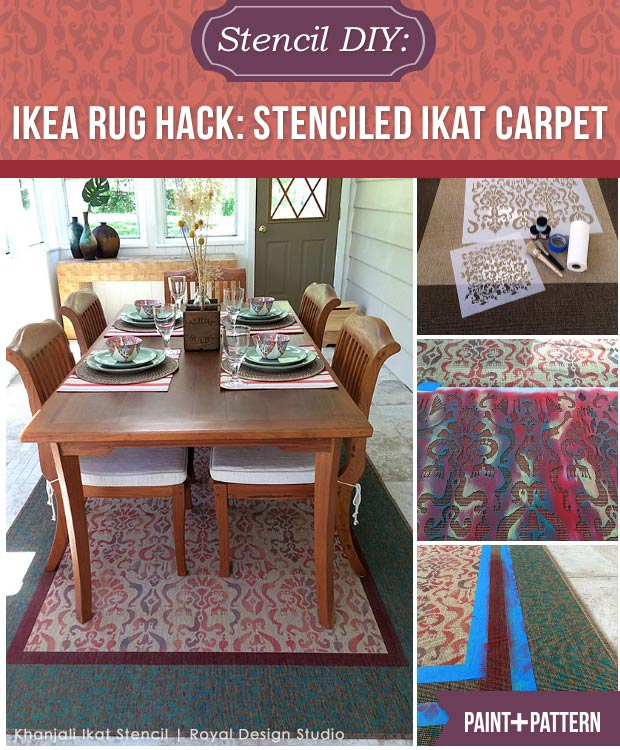 IKEA Rug Hack: Turn an inexpensive carpet into a custom Oriental rug with  an Ikat