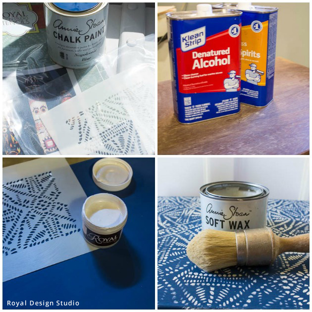 Nesting Tables Made Modern with Stencils | Stencil Supplies by Royal Design Studio