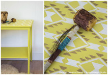 Stencil a Pretty Navajo Tabletop for Summer Fun