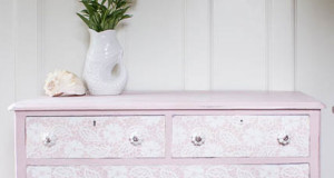 A Stenciled Lace Dresser That's Fit for a Princess