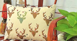Stenciled Pillow Nursery Decor for a Baby Buck