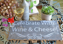 DIY Stencil Tutorial: Etched Wine & Cheese Plate