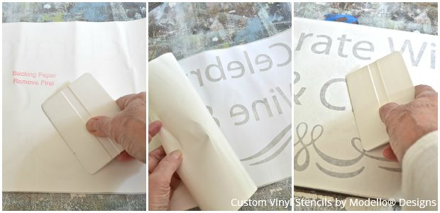 DIY Stencil Tutorial: Etched Wine & Cheese Plate with Custom Lettering Stencils