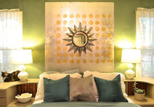 Spot On! DIY a Metallic Wall Art Headboard