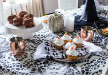 Stencil a Chic Halloween Party Tablescape